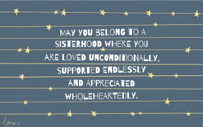 Belonging to a sisterhood